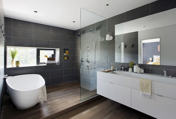 Contemporain Salle De Bain By ZeroEnergy Design