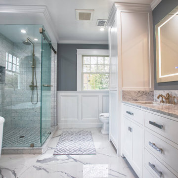 Fancy Marble Master-Bath