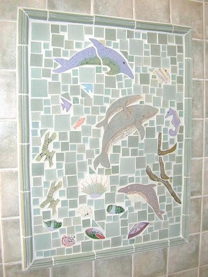 Tropical Bathroom by MICHELLE GRIFFOUL STUDIOS