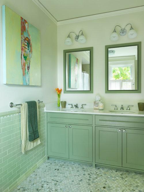 bathroom design ideas renovations photos with green