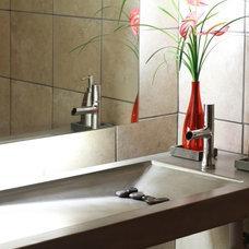 Asian Bathroom by Custom Concrete Designs