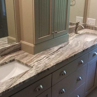 Example of a coastal bathroom design in Atlanta