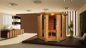 FAR Infrared Corner Home Sauna Kit