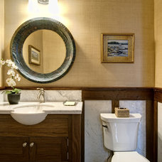 Eclectic Bathroom by Farinelli Construction Inc