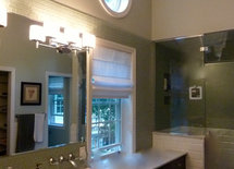 Very nice bathroom.  Love the sinks.  What brand are they?