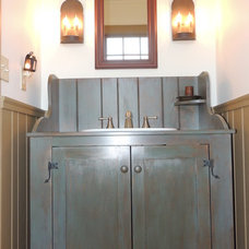 Farmhouse Bathroom by Maplestone Construction