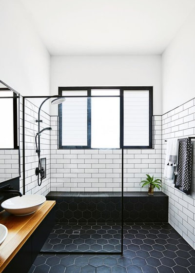 Industrial Bathroom by Green Apple Interiors & Design