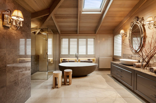 Transitional Bathroom by Patrick Meneguzzi Interiors