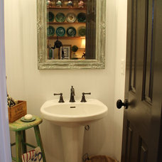 Farmhouse Bathroom Farm Style Powder Room
