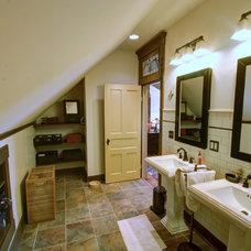 Farmhouse Bathroom by RTA Studio