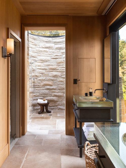 landhausstil badezimmer mit bodengleicher dusche design ideen beispiele f r die badgestaltung. Black Bedroom Furniture Sets. Home Design Ideas