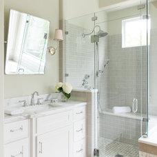 Farmhouse Bathroom by Erin Sander Design