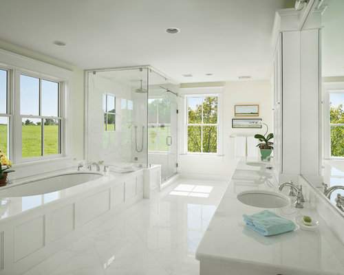 All white bathroom home design ideas pictures remodel for All white bathroom designs