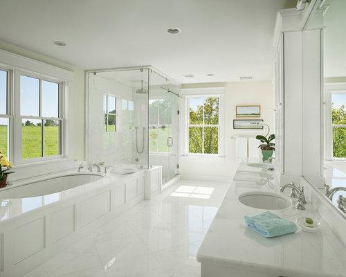 All White Bathroom Houzz