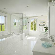 Farmhouse Bathroom by Hone+Associates