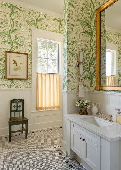 Lantlig Badrum Farmhouse Bathroom