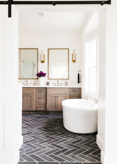 Popular Farmhouse Bathroom by Pacific Edge Builders