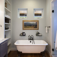 Farmhouse Bathroom by Rauser Design