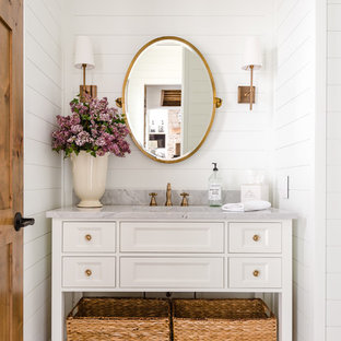 Pretty in Pink master bedroom and guest bath