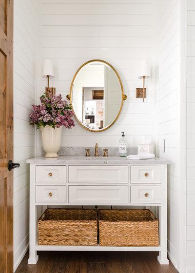 Farmhouse Bathroom by Sharon Crudele, IDS,