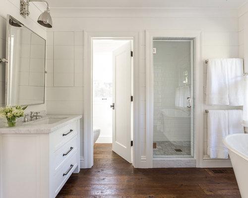 Landhausstil badezimmer mit metrofliesen ideen & beispiele für die ...