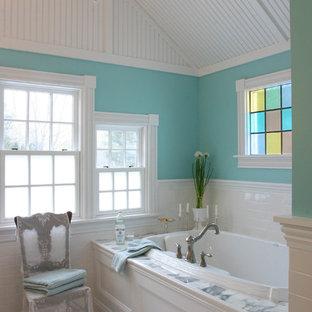 Drop-in bathtub - victorian drop-in bathtub idea in New York