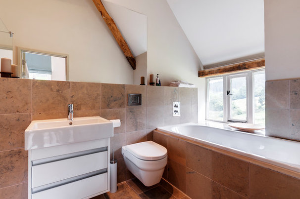 Farmhouse Bathroom by van Ellen + Sheryn Architects