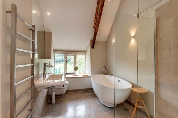 Farmhouse Bathroom by van Ellen + Sheryn Architects