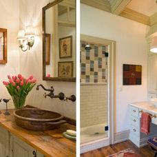 Farmhouse Bathroom by DiFiore & Partners