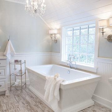 Farmhouse Master Bath in Barrington Hills