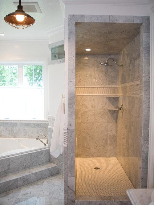 Landhausstil badezimmer mit eckbadewanne design ideen - Eckbadewanne fliesen bilder ...