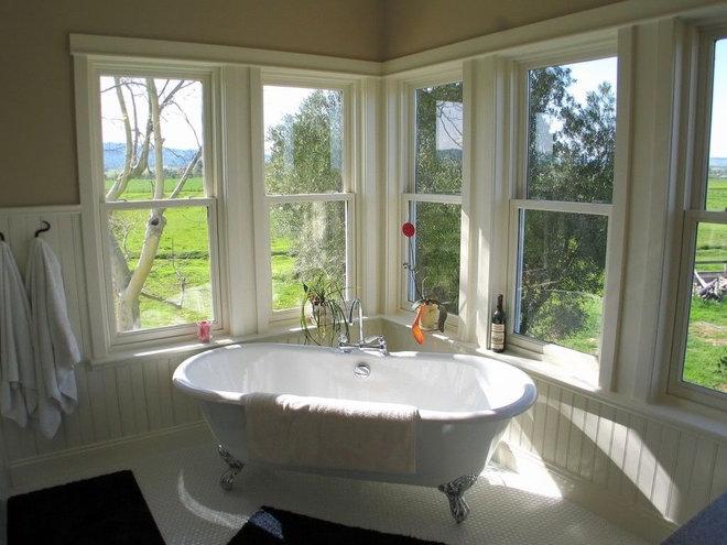 Farmhouse Bathroom by Madson Design