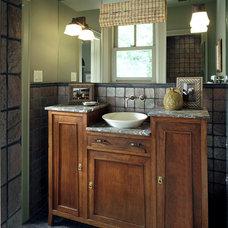 Farmhouse Bathroom by Michael Lyons Architect
