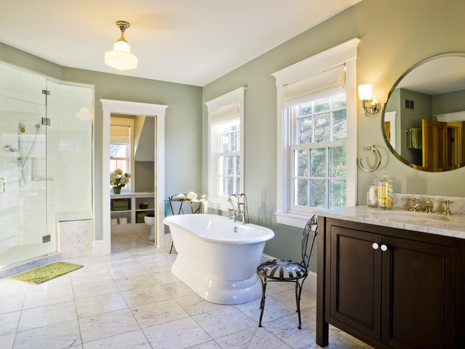 Farmhouse Bathroom by Cushman Design Group