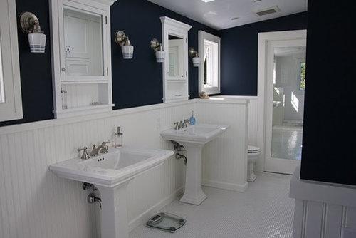 Dark blue bathroom home design ideas pictures remodel - Dark blue bathroom ideas ...