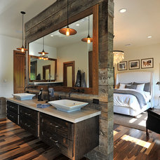 Rustic Bathroom by Woodland Cabinetry