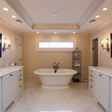 Traditional Bathroom by Kerry Flanagan of Factory Builder Stores