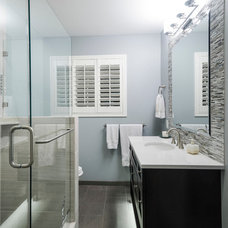Transitional Bathroom by Christa Pirl Interiors