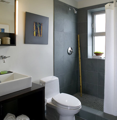 Slate Bathroom Modern Bathrooms And Rustic: Slate Tile Shower Floor Home Design Ideas, Pictures, Remodel And Decor