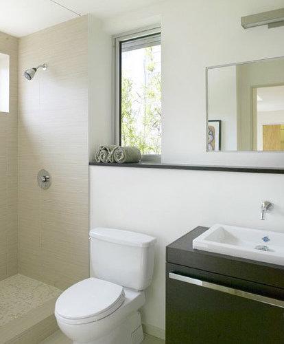 Linen look tile houzz for Modern bathroom looks