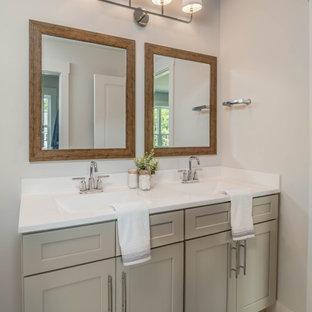Inspiration för ett lantligt badrum