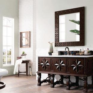 Пример оригинального дизайна: ванная комната в средиземноморском стиле