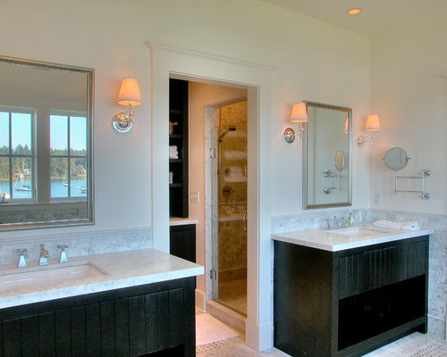Double Vanity Bathroom Houzz split double vanity | houzz