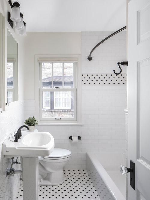 Family Bathroom Design Ideas Renovations Photos With Yellow Tiles