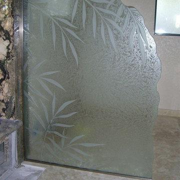 Ferns II Glass Shower Partition