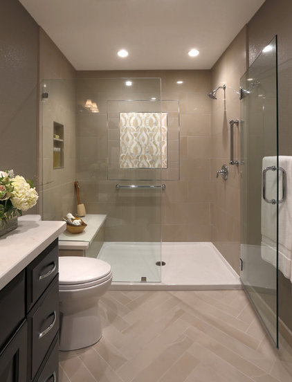 Room of the day a bathroom remodel to celebrate a 50th for Transitional bathroom design photos