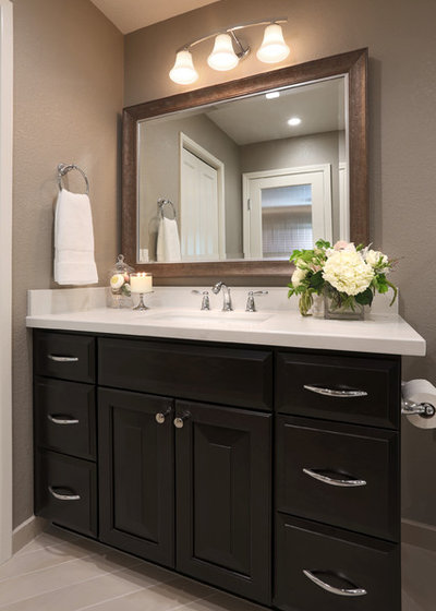 Transitional Bathroom by Altera Design & Remodeling, Inc.