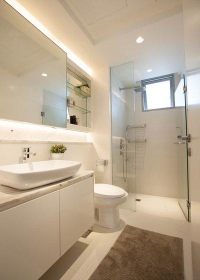 Contemporary Bathroom by Life Interior Design Pte Ltd