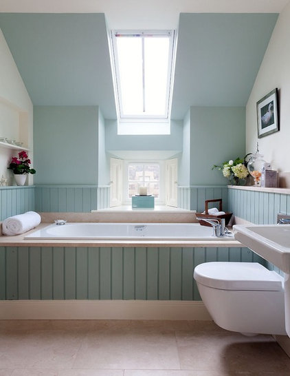Transitional Bathroom by Robertson Lindsay Interiors