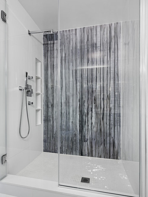 Simple Bathrooms With Shower simple tile shower | houzz